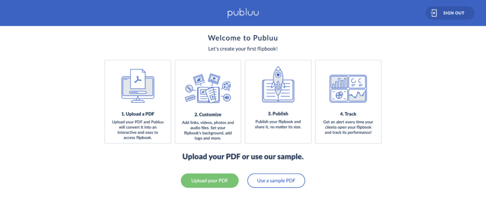 Upload PDF and Share