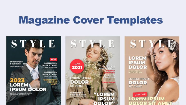 How to Make a Magazine Cover With a Template?
