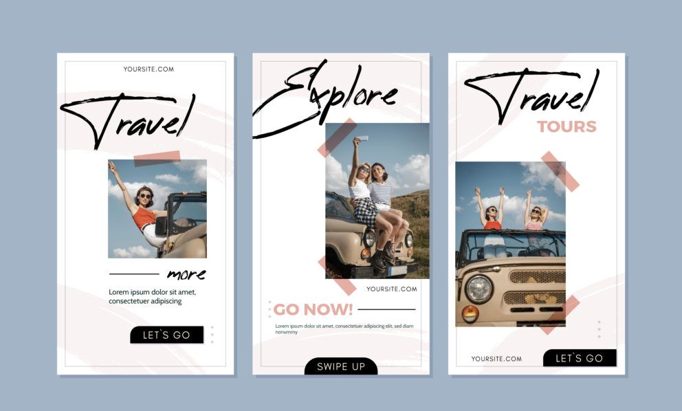 Travel brochure covers example
